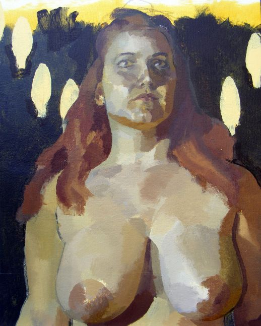 "Queen Of Heavens II  16"" x 20""  Acrylic On Canvas"