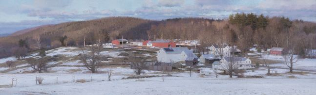 """Retreating Snow  22"""" x 72""""  Oil On Canvas"""
