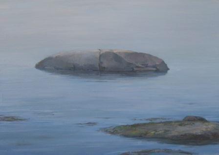 "Whale Rock Fog I  16"" x 24"" Oil On Panel"