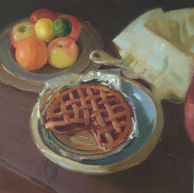 "Jan's Cherry Pie  20"" x 18""  Oil On Linen"