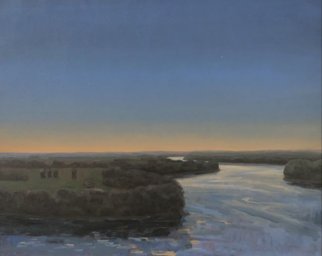 "Evening On The Missouri  22"" x 32""  Oil On Canvas"