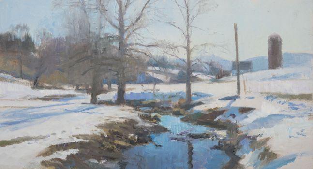 "Swover Snow II  7.75"" x 14.25""  Oil On Panel"