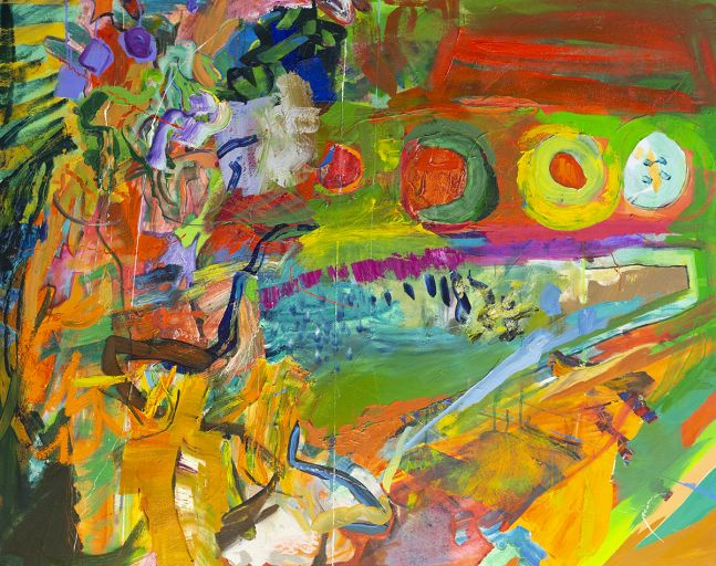 """Artist Benjamin Passione, 40"""" by 50"""", Oil On Canvas, Titled Turtles All The Way Down"""