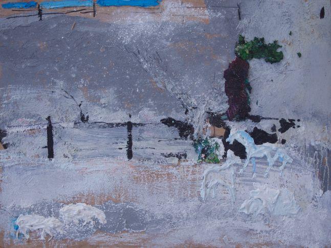 "Bethann Parker, Winter On The Farm 12"" x 16""  Oil On Panel"