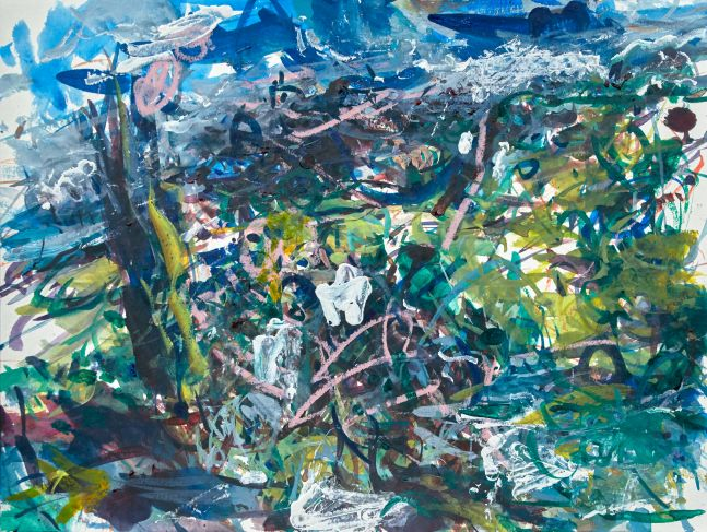 """Telluride, Valley Of The Hanging Water #1  16"""" x 34""""  Oil On Panel"""