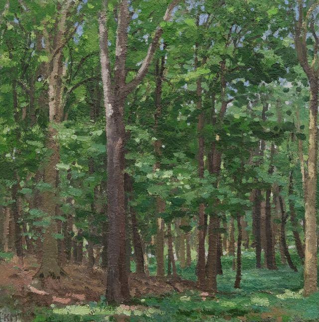 "Morel Spot  30"" x 30""  Oil On Wood"