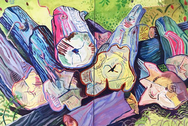 """Fresh Cuts  40"""" x 60""""  Acrylic On Canvas"""