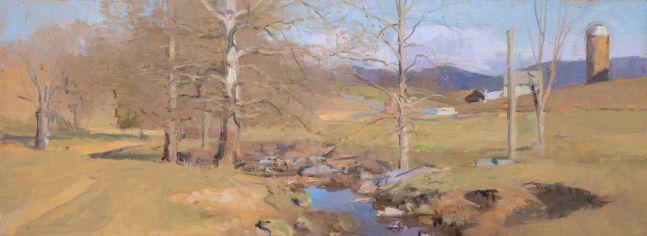 """Swover Creek III  6"""" x 16""""  Oil On Panel"""