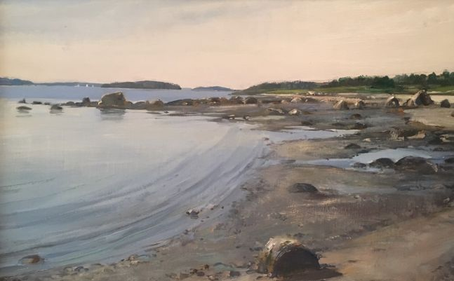 """Flye Point Cove  12"""" x 16""""  Oil On Panel"""