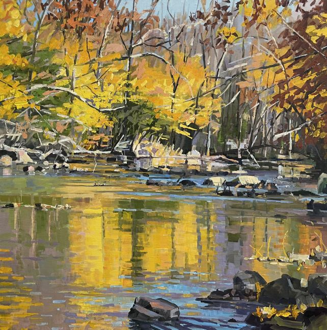 """French Creek Symphony  24"""" x 24""""  Oil On Linen"""