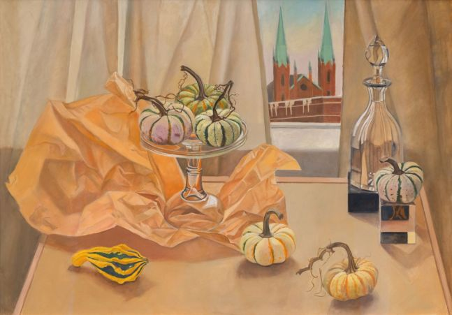 """Party Of Gourds  29.5"""" x 41""""  Gouache On Paper"""