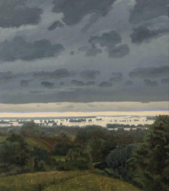 The Flood Of 2018  36″ x 22″  Oil On Canvas