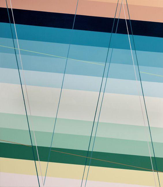 """Polyrhythm, 44"""" x 50"""", Acrylic Paint On Canvas"""