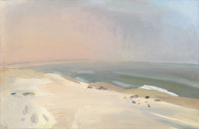 "Foggy Morning, R.I.  11"" x 17""   Oil On Canvas"