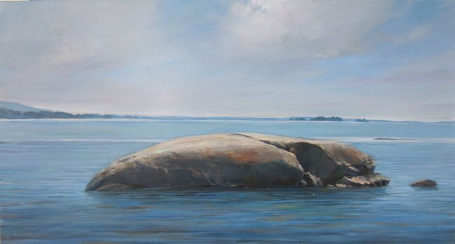 """Whale Rock  16"""" x 30""""  Oil On Canvas"""