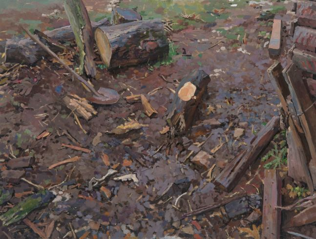 "Untitled  14.5"" x 17""  Oil On Panel"