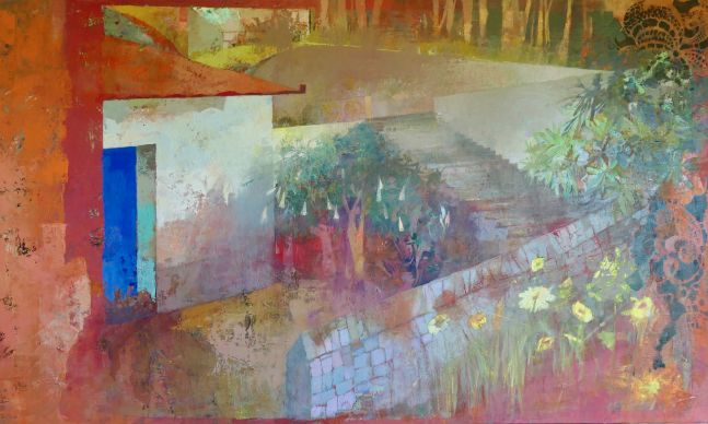 """Road to Samos  38"""" x 61""""  Oil On Canvas"""