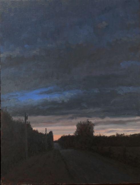 "Twilight, Saline County  26"" x 22""  Oil On Canvas"