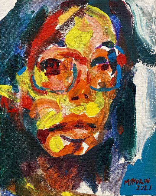 "Raw  11.5"" x 9""  Acrylic On Canvas"
