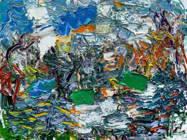 "Duck Pond #2  30"" x 40""  Oil On Linen"
