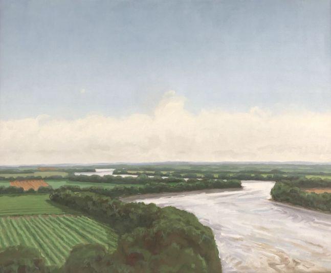 "Afternoon On The Missouri  26"" x 32""  Oil On Canvas"