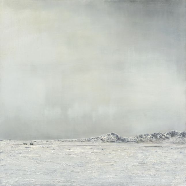 """There's Oil Under The Arctic  36"""" x 36""""  Oil On Wood"""