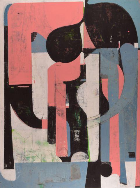 """Big Pink  72"""" x 53.5""""   Acrylic On Panel"""