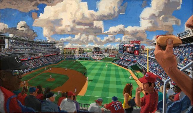 """Nationals Park, Washington D.C., 36"""" x 60"""", Oil On Canvas"""