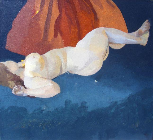 "Red Venus  22"" x 20""  Acrylic On Canvas"