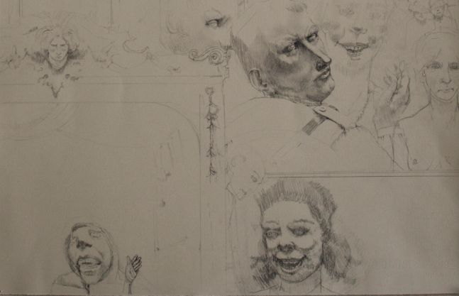 """Overture Study #4  14"""" x 22""""  Pencil On Paper"""