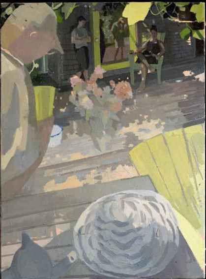 "Susan Lichtman, Gathering  30"" x 22""  Oil On Linen"