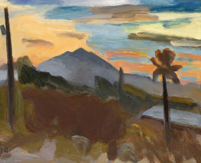 """Tucson Sunset Study  8"""" x 10""""  Oil On Canvas"""