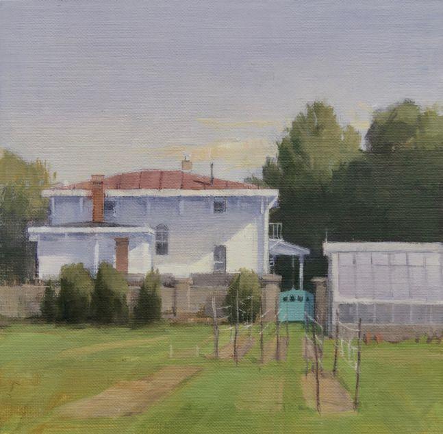 """Parrish Garden  8"""" x 8""""  Oil On Panel"""