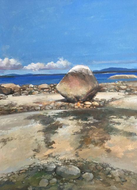 "Fly Point Rocks  15"" x 11""  Oil On Canvas"