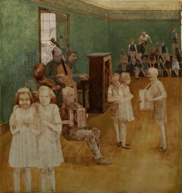 """Rehearsal V  34"""" x 32""""  Oil On Canvas"""