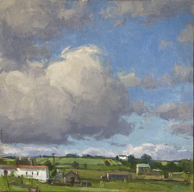 """Kilcummin Cloud  8"""" x 8""""  Oil On Panel"""