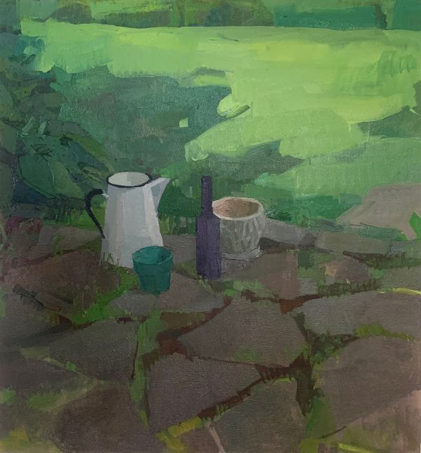 """Canopy  27"""" x 25""""  Oil On Canvas Mounted On Panel"""