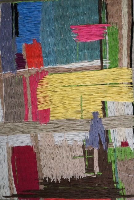 """Color Composition III 20"""" x 14""""  Thread On Canvas (SOLD)"""