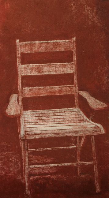 """Red Chair  22"""" x 14""""  Oil On Canvas"""