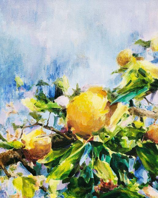 """Fruit Tree I, 20"""" x 16"""", Oil On Canvas"""