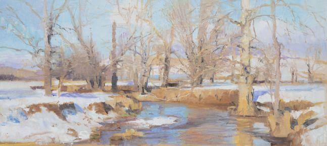 "Swoope Snow I  6.75"" x 15.5""  Oil On Panel"