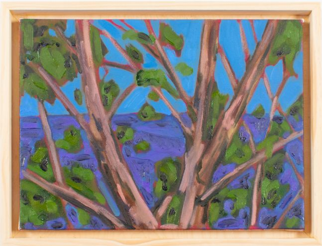 """Tree and View  12"""" x 16""""  Oil On Canvas"""