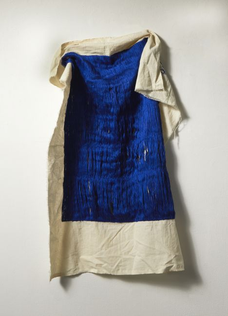 """Blue  48"""" x 34""""  Thread On Muslin"""