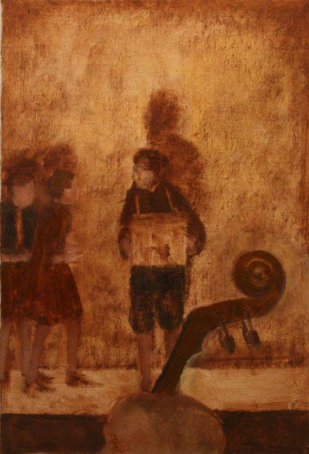 "Children Pleading (Brundibar Series)  16"" x 11""  Oil On Canvas"