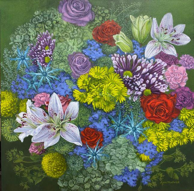 "Lynn Muchnick, Welcome Spring 24"" x 24""  Acrylic On Canvas"