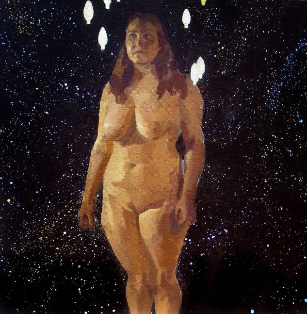 """Sterling Shaw, Queen of Heavens  20"""" x 20""""  Acrylic On Canvas"""