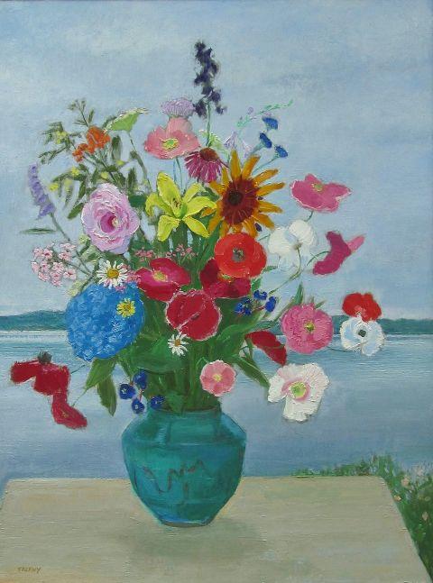 "Susquehanna Jugtown Bouquet  32"" x 24""  Oil On Panel"