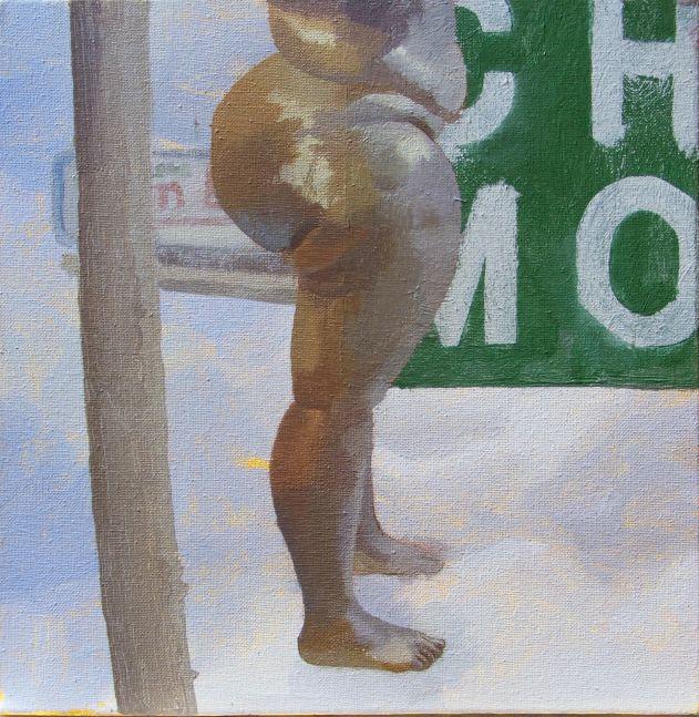 """Philadelphia Crucifixion V  12"""" x 12""""  Acrylic On Canvas"""