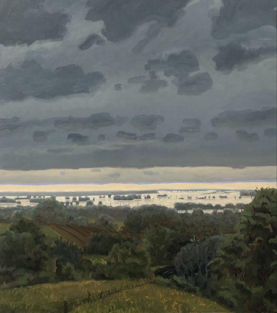 "The Flood of 2018  36"" x 22""  Oil On Canvas"