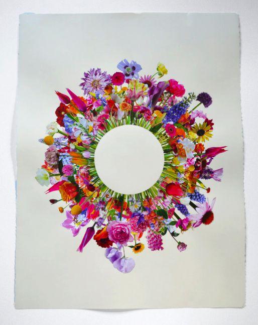 "Flower Collage #3  30"" x 22""  collage"